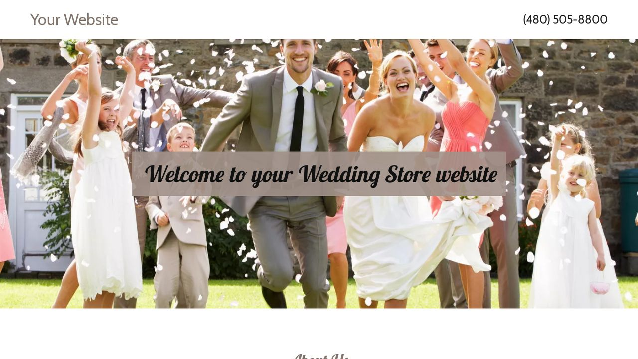 Wedding Store Website: Example 3