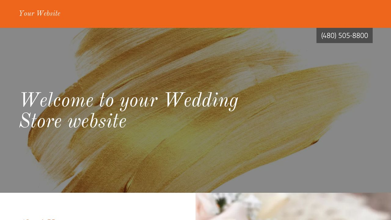 Wedding Store Website: Example 5