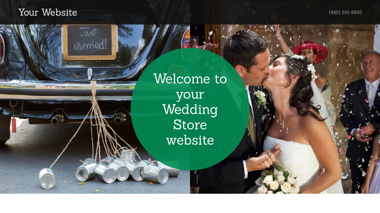 Wedding Store Website: Example 7