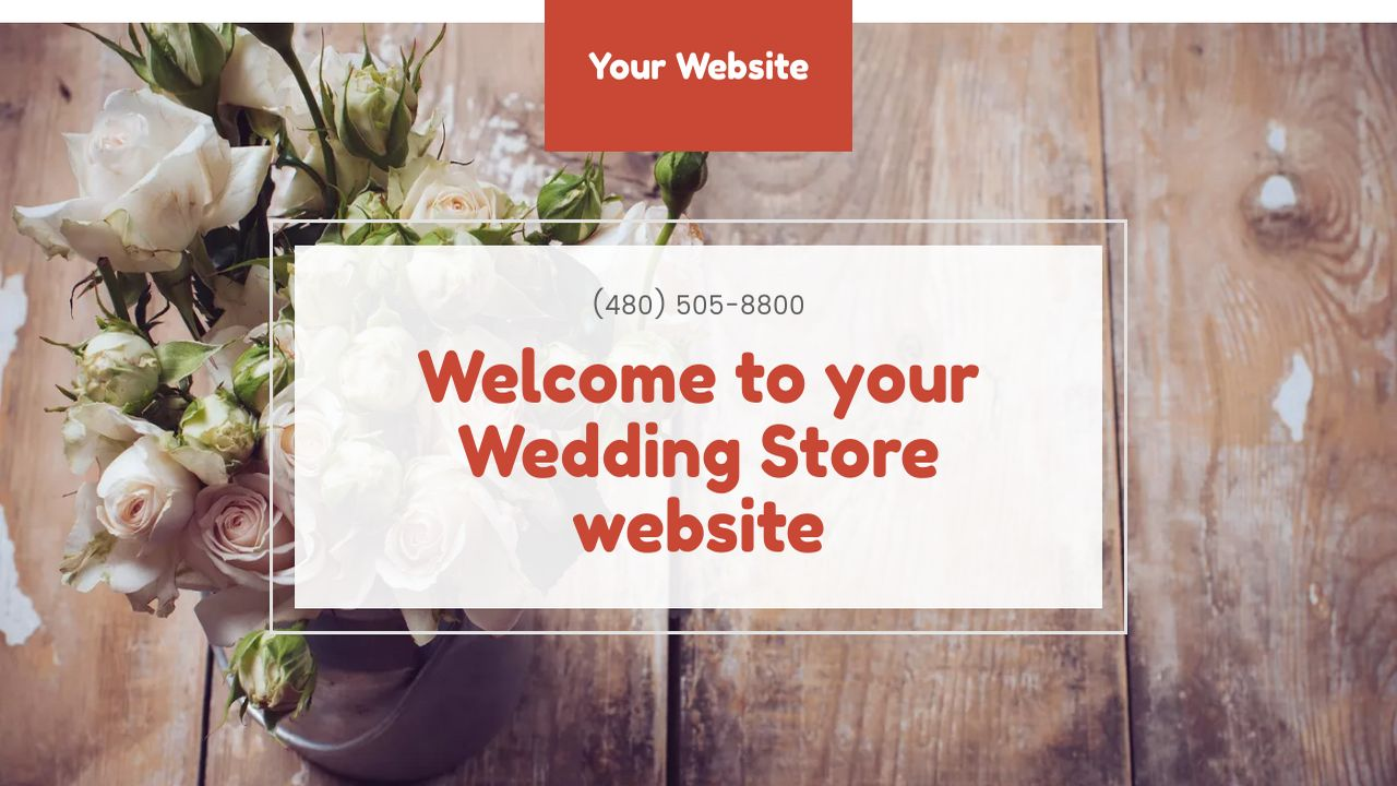 Wedding Store Website: Example 9