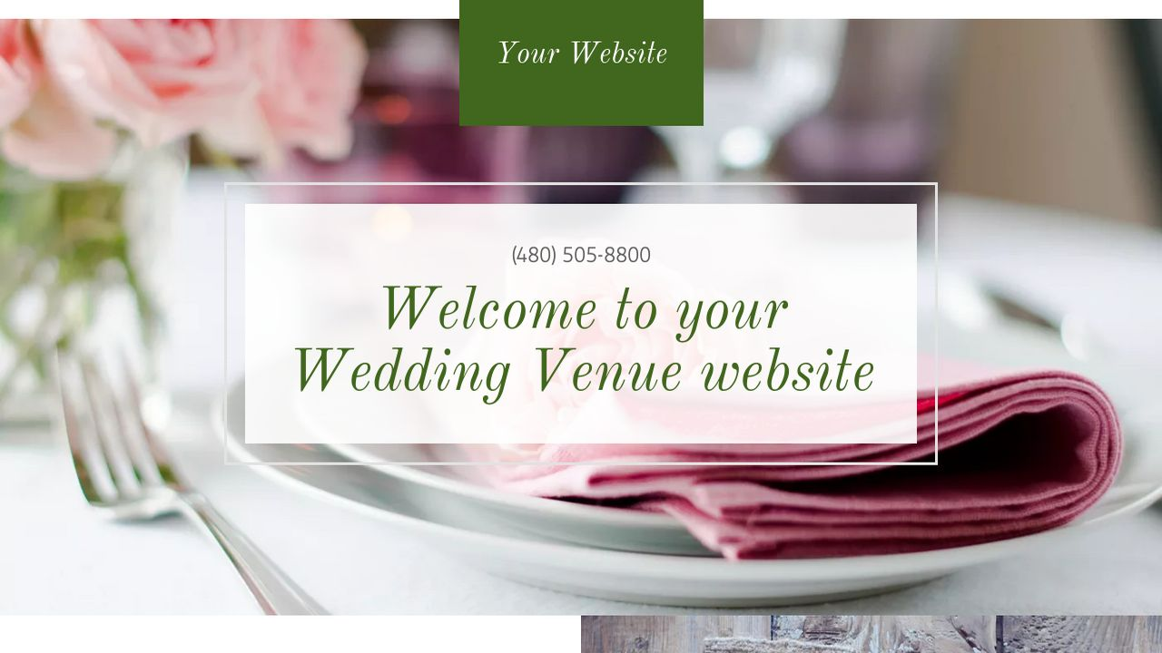 Wedding Venue Website: Example 10