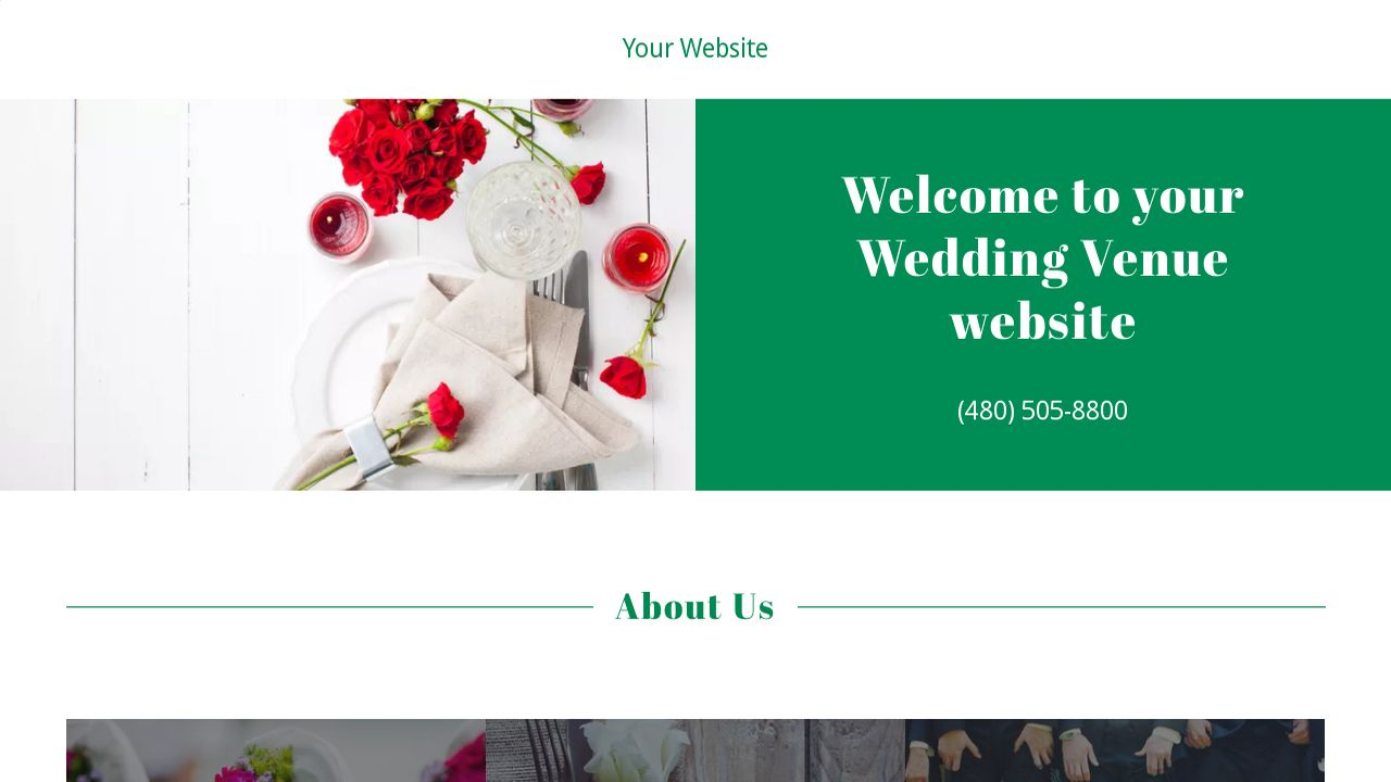 Wedding Venue Website: Example 11