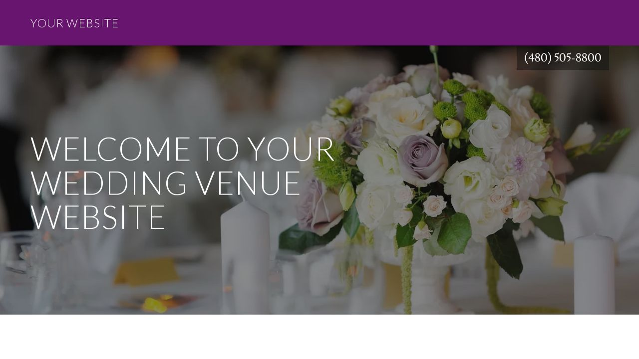 Wedding Venue Website: Example 12
