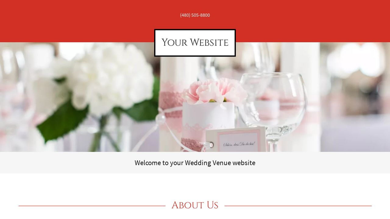 Wedding Venue Website: Example 13