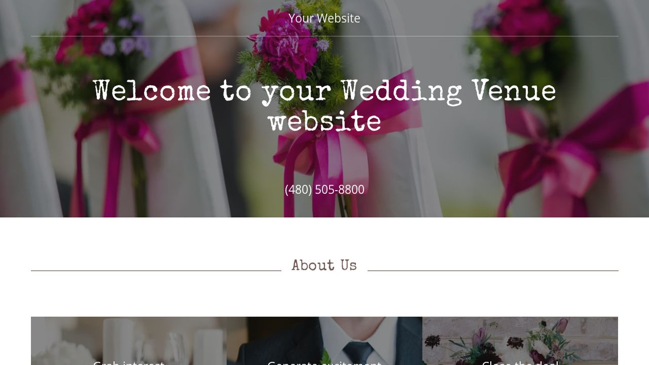 Wedding Venue Website: Example 16