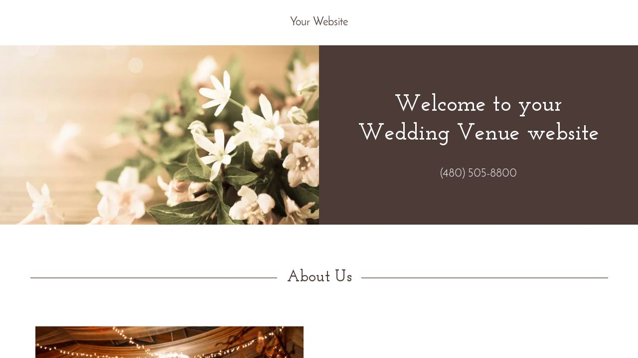 Wedding Venue Website: Example 18