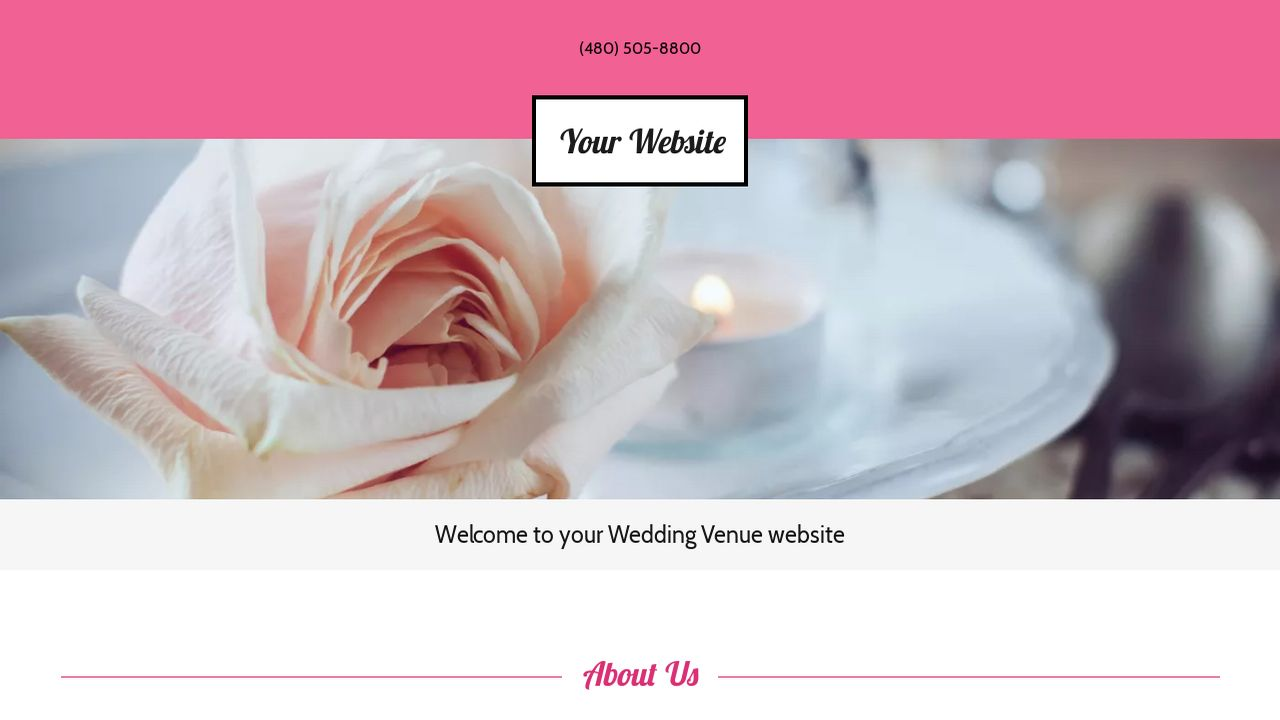 Wedding Venue Website: Example 6