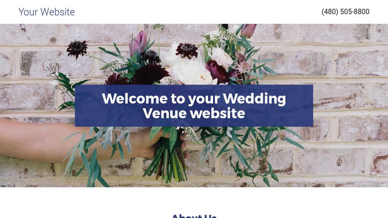 Wedding Venue Website: Example 7