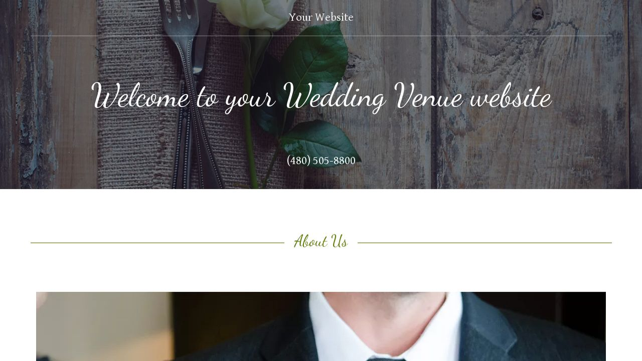 Wedding Venue Website: Example 9