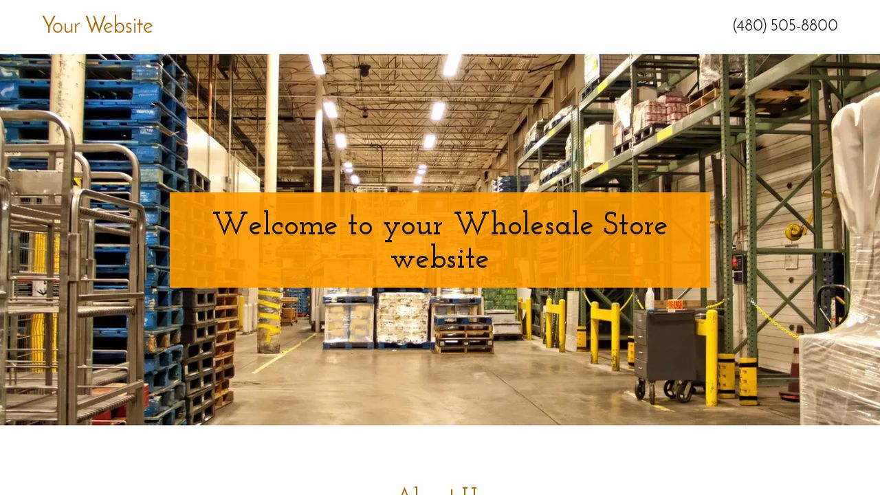 Wholesale Store Website: Example 13