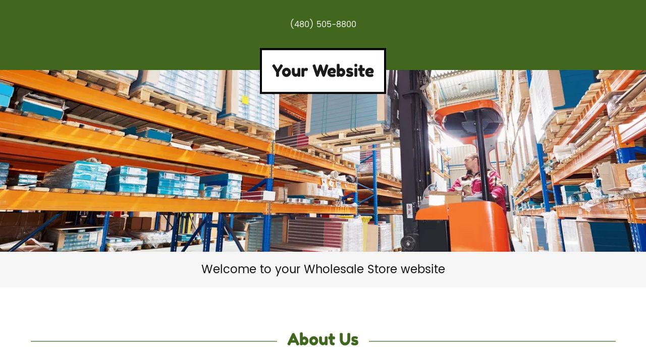 Wholesale Store Website: Example 14