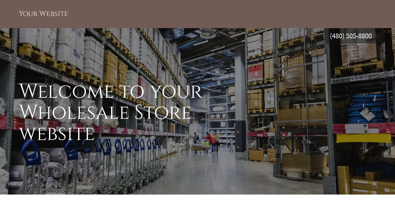 Wholesale Store Website: Example 18