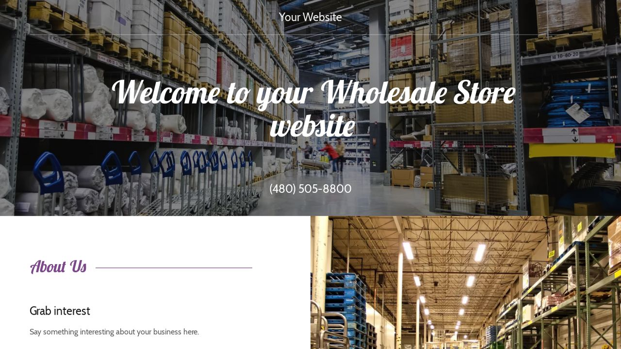 Wholesale Store Website: Example 2