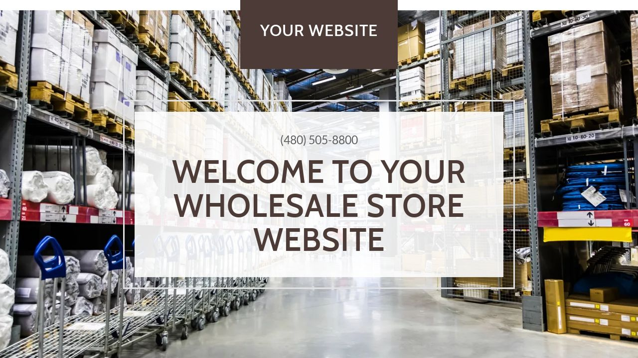Wholesale Store Website: Example 8