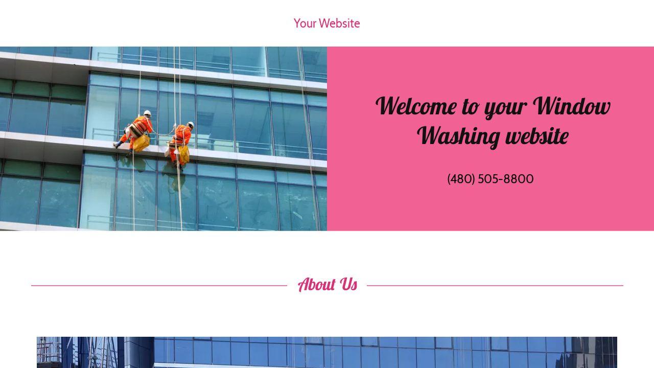 Example 1 window washing website template godaddy for Window washing
