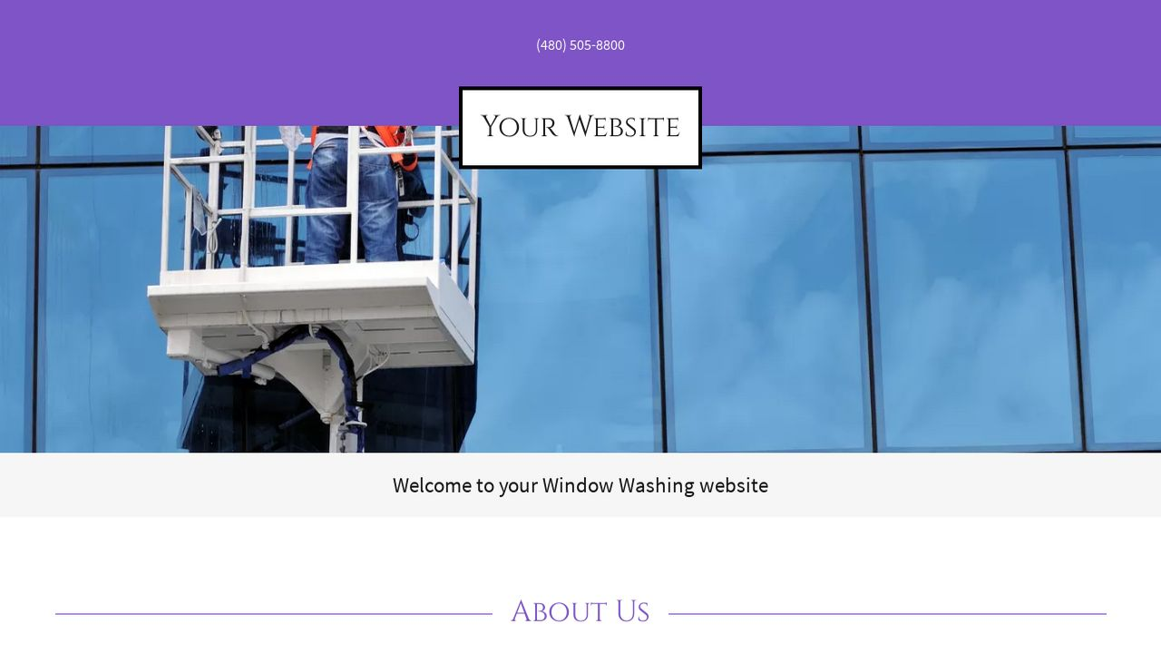 Example 7 window washing website template godaddy for Window washing