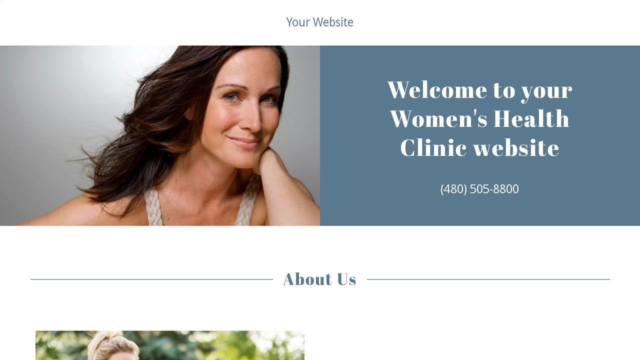 women 39 s health clinic website templates godaddy. Black Bedroom Furniture Sets. Home Design Ideas