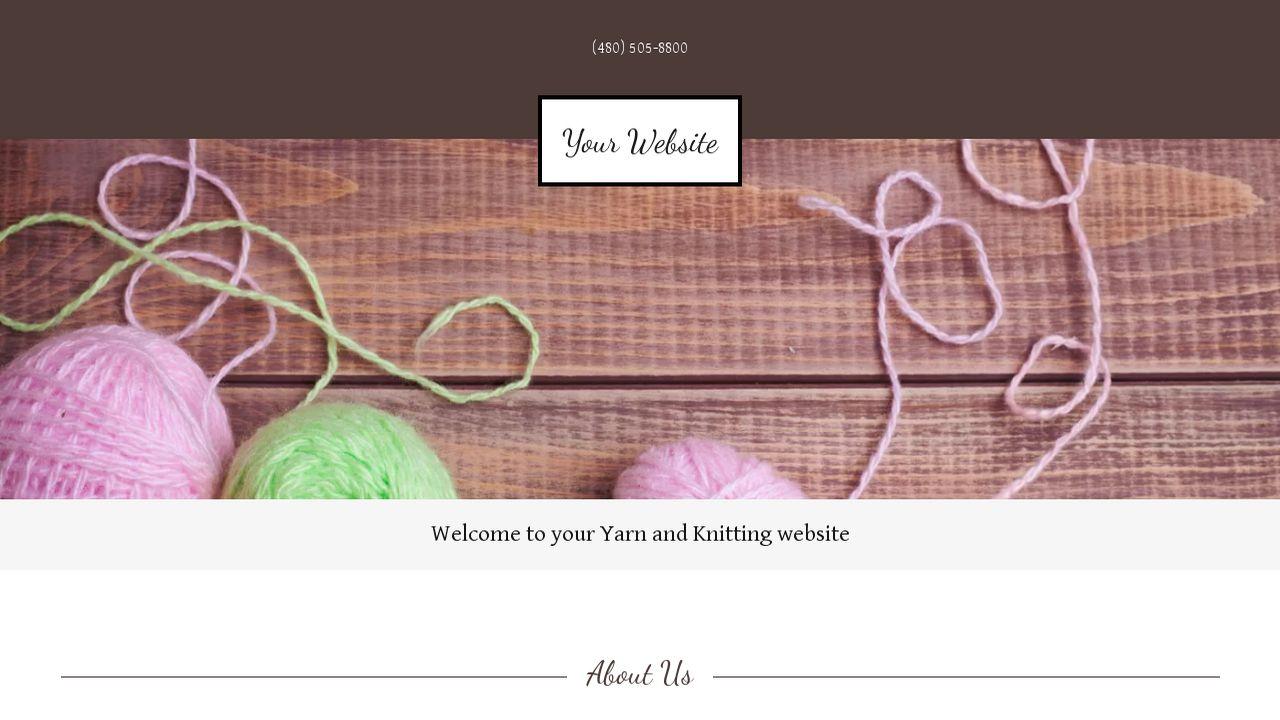 Yarn and Knitting Website Templates | GoDaddy