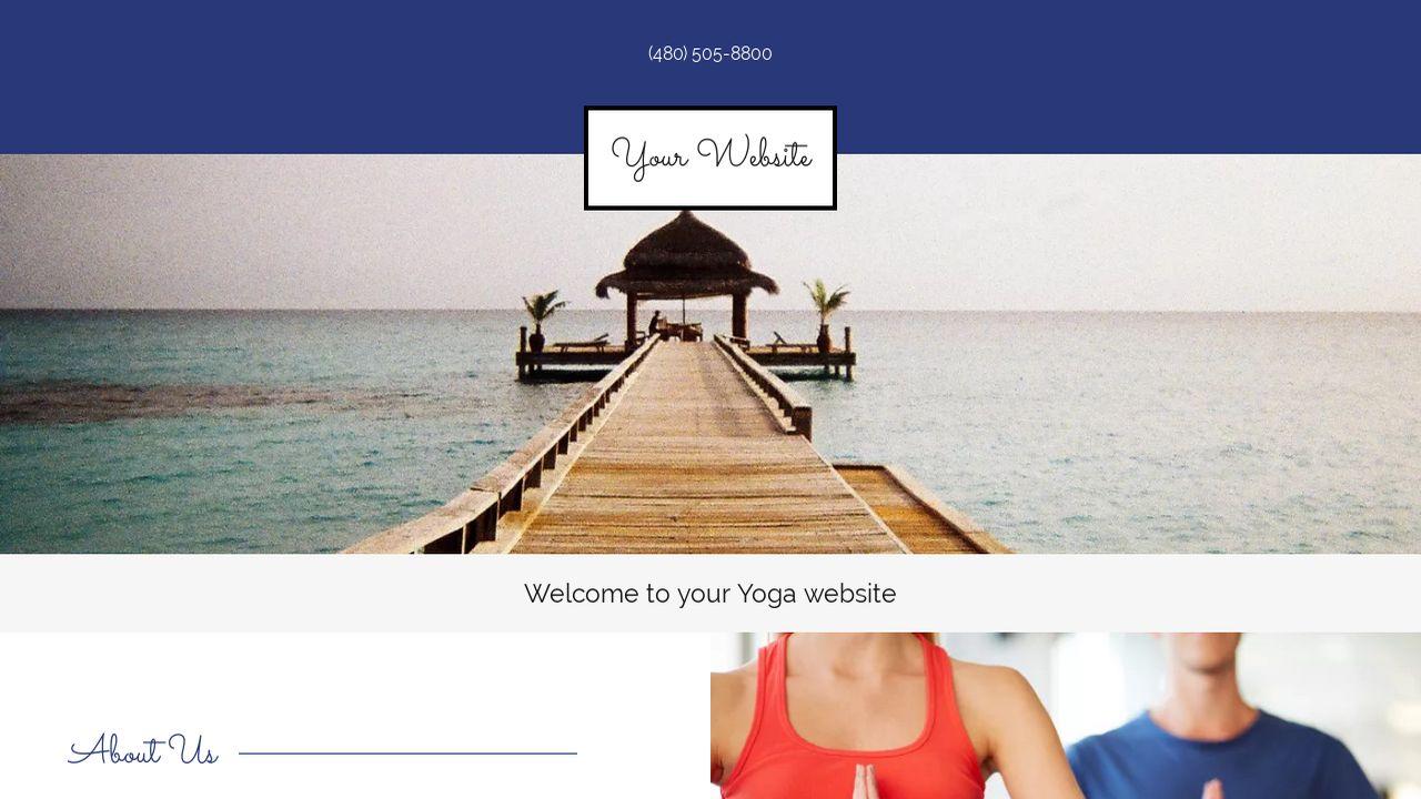 yoga website templates godaddy