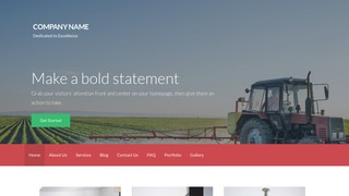 Activation Agricultural Service WordPress Theme