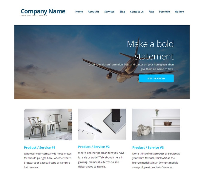 Ascension Aircraft Dealer WordPress Theme