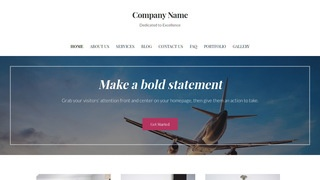 Uptown Style Aircraft Dealer WordPress Theme