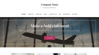 Uptown Style Aircraft Rentals WordPress Theme