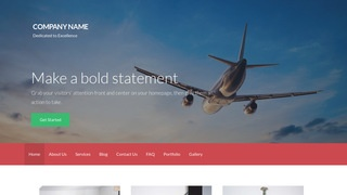 Activation Aircraft Service and Maintenance WordPress Theme
