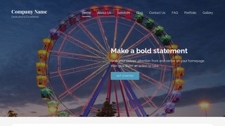 Lyrical Amusement Park WordPress Theme