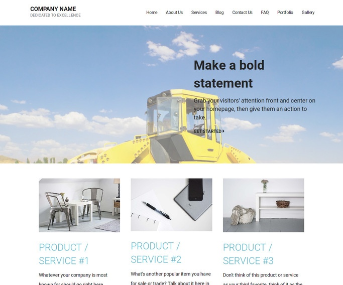 Mins Asphalt Contractor WordPress Theme