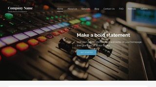 Lyrical Audio Visual Equipment WordPress Theme