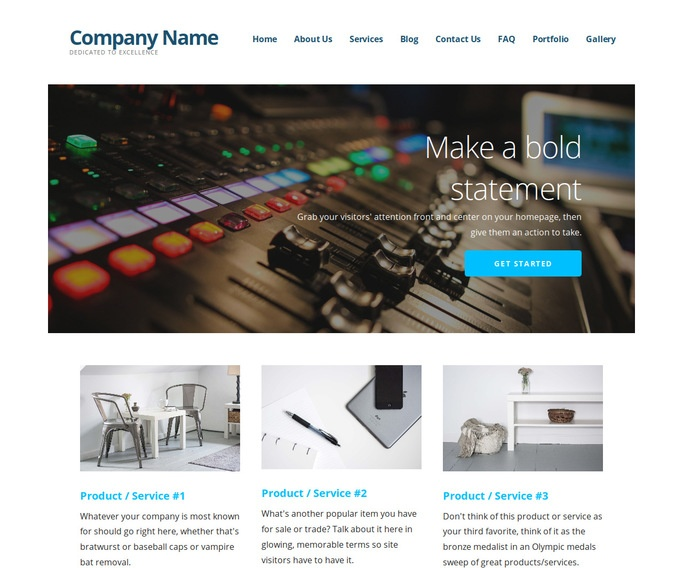 Ascension Audio-Visual Production WordPress Theme