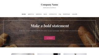 Uptown Style Bakery WordPress Theme