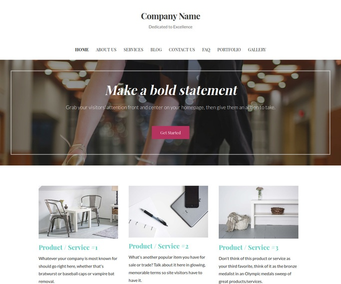 Uptown Style Dance Lessons WordPress Theme