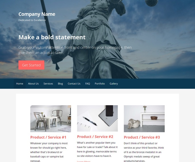 Primer Bankruptcy Law WordPress Theme