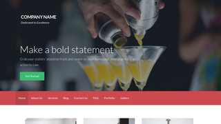 Activation Bartender WordPress Theme