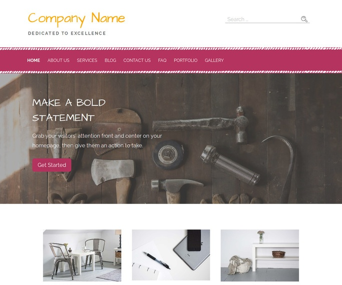 Scribbles Hardware Supplier WordPress Theme