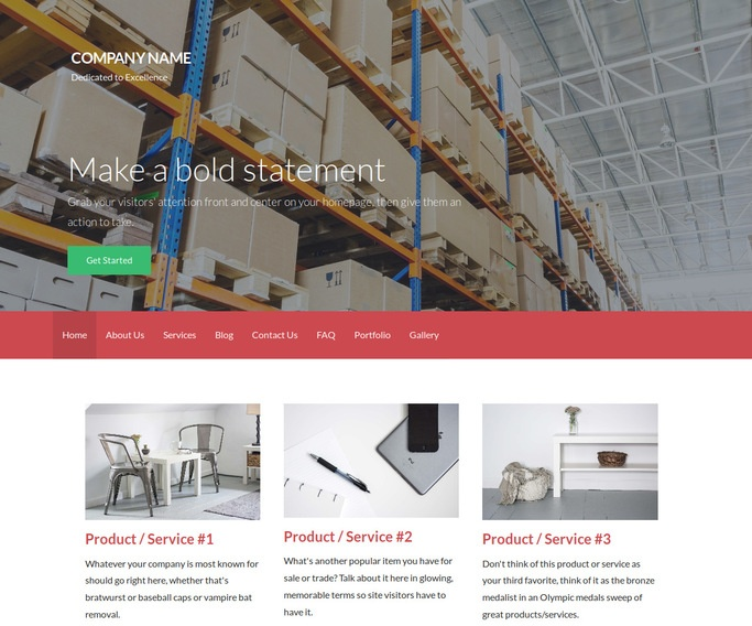 Activation Manufacturing WordPress Theme