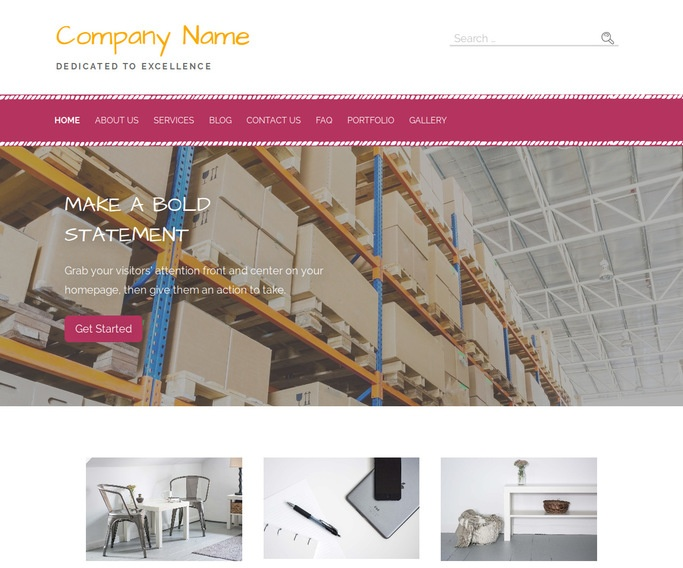 Scribbles Manufacturing WordPress Theme