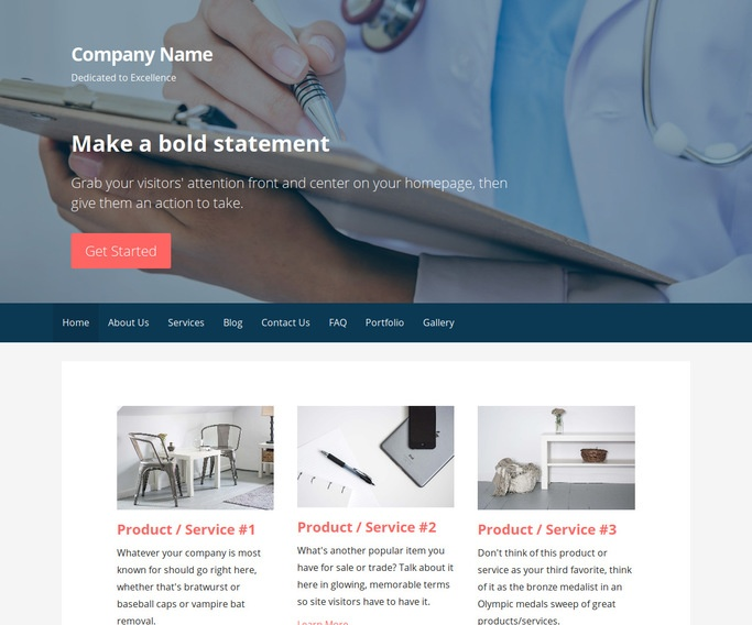 Primer Medical Support WordPress Theme
