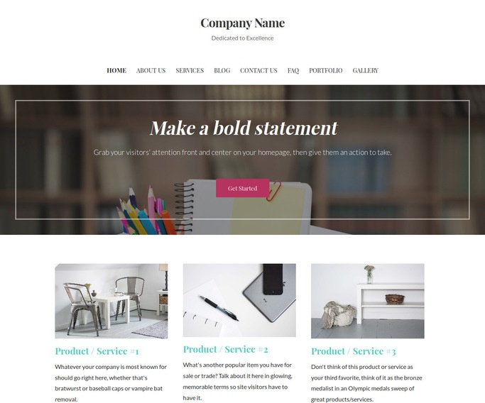 Uptown Style Office Supplies WordPress Theme