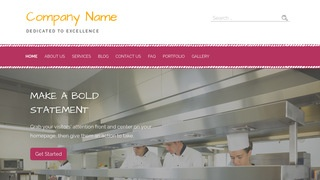 Scribbles Restaurant Services WordPress Theme