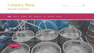 Scribbles Beer Distributor WordPress Theme