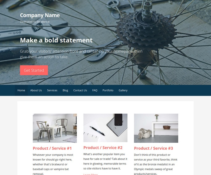 Primer Bike Repair  WordPress Theme