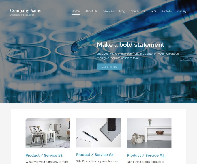 Lyrical Biotechnology Company WordPress Theme