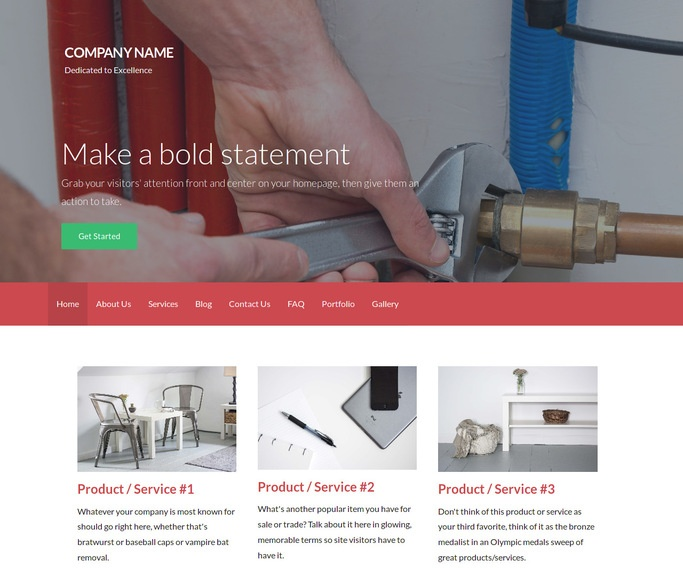 Activation Boiler Repair and Service WordPress Theme