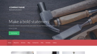 Activation Cabinet Maker WordPress Theme