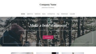 Uptown Style Campground WordPress Theme