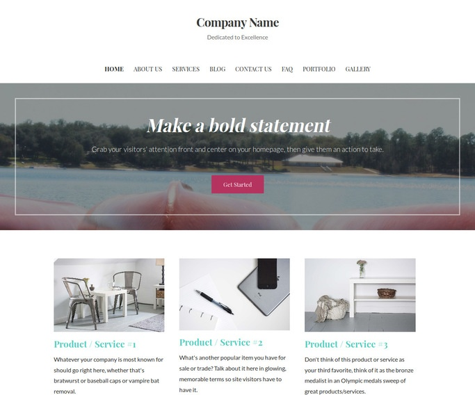 Uptown Style Canoes and Kayaks WordPress Theme