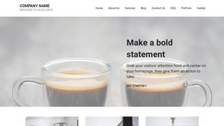 Mins Coffee or Tea Shop WordPress Theme